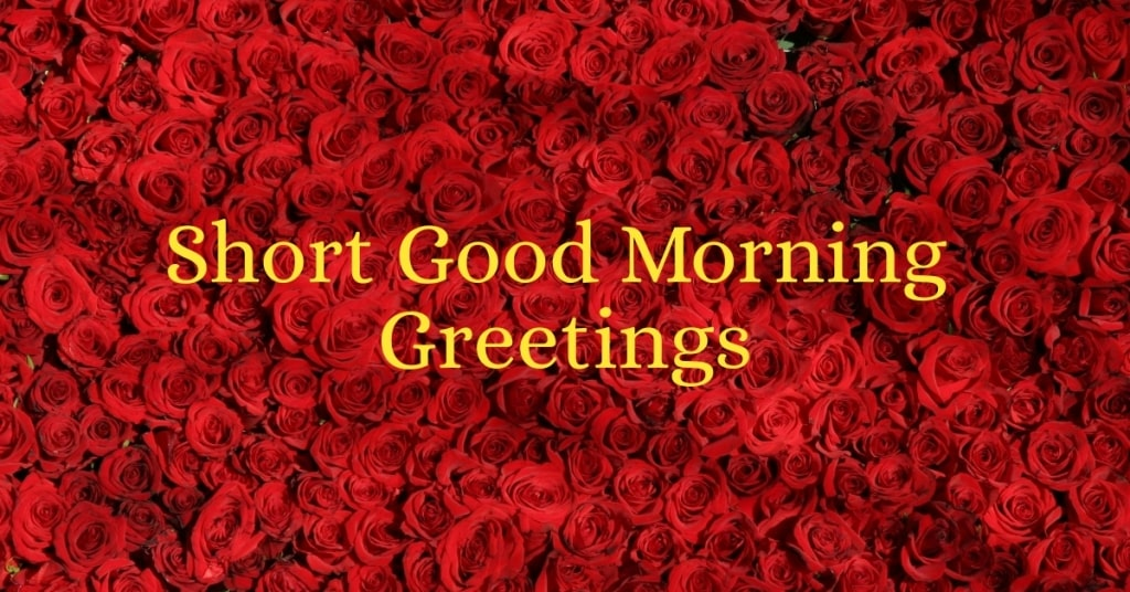 Short Good Morning Greetings
