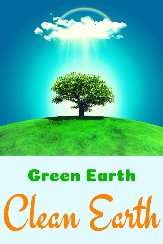 Green Earth Clean Earth slogan Image for Earth Day 2020