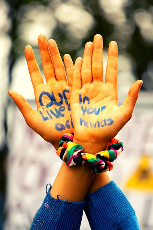 Our lives are in your hand Earth Day 2020 slogans
